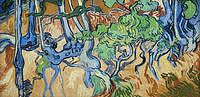 tablou van gogh - roots and tree trunks, 1890