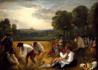 Tablou canvas benjamin west - harvesting at windsor,1795
