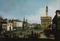 tablou canaletto -  the piazza della signoria in florence