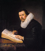 tablou rembrandt - portret of a scientist (1631)