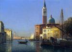 tablou antoine bouvard sr   a venetian canal scene