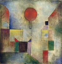tablou paul klee - red baloon (1922)