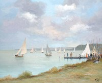 tablou marcel dyf - regatta on the etang of san quentin