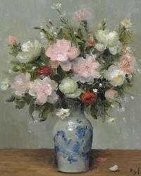 tablou marcel dyf - peonies and anemones, 1981