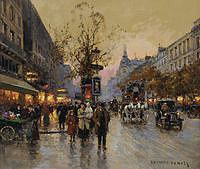 tablou edouard leon cortes - boulevard of the italians