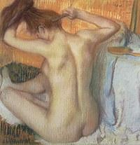 tablou edgar degas - woman in toilet, 1885