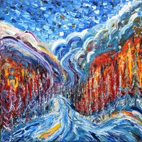 Tablou canvas abstract art (657)