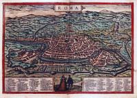tablou harta antica roma, secolul xvi (2)