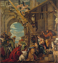 tablou paolo veronese - the adoration of the kings