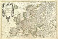 tablou harta europa, 1762