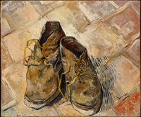 tablou van gogh - shoes, 1888
