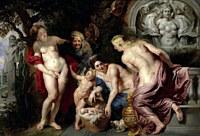 tablou rubens - the discovery of the child erichthonius (1615)