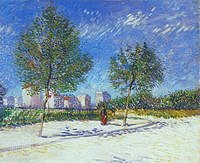 tablou van gogh - on the outskirts of paris, 1887