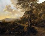 tablou jan dirksz both - italian landscape with travelers (4)