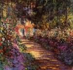 tablou claude monet   pathway in monet's garden at giverny,  1901 02