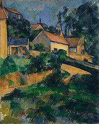 tablou paul cezanne - turning road at montgeroult, 1898