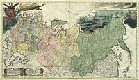 tablou harta veche rusia