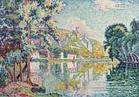 tablou paul signac - les andelys, chateau gaillard, 1921