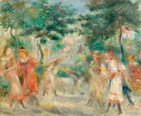 Tablou canvas pierre auguste renoir - la partie de croquet