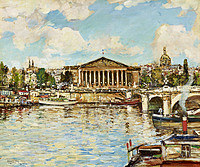 tablou james kay - national assembly, paris, from the seine