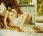 tablou guillaume seignac - jeune femme denudée sur canape