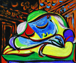tablou picasso - young girl slepping (1935)