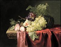 tablou willem van aelst - still life with fruit (2)