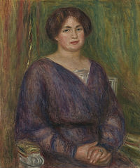 tablou pierre auguste renoir - portrait of mme louis prat, 1913