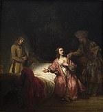 tablou rembrandt - the prosecution of joseph potiphar's wife (1655)