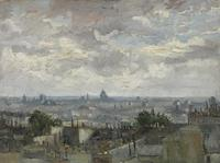 Tablou canvas vincent van gogh - view of paris, 1886