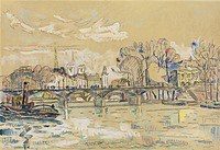 Tablou canvas paul signac - paris, the seine and pont des arts, 1924