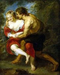tablou rubens - pastoral scene (1636)