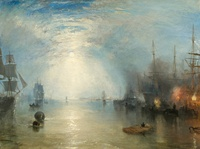 tablou turner - keelmen heaving in coals by moonlight, 1835