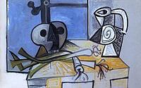 tablou picasso - poireaux et pichet (2)