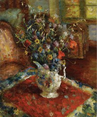 tablou marcel dyf - still life with jug, 1940 45