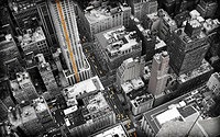 Tablou canvas new york, taxi, bicolor (10)