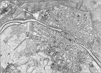 tablou harta antica paris, 1730