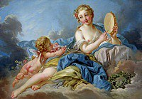 tablou francois boucher - muza (1739)