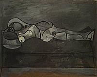 Tablou canvas picasso - nude au divan