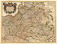 Tablou canvas harta antica polonia, ukraina si lituania