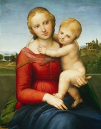 tablou raphael - the small cowper madonna (1505)