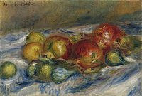 tablou pierre auguste renoir - still life with figs and granates, 1915