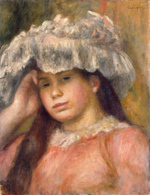 tablou renoir - young girl in a hat, 1892 94