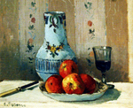 tablou camille pissaro-still life with apples and pitcher