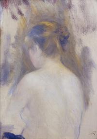 Tablou canvas renoir - femme vue de dos, 1879