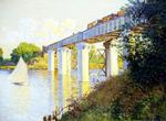 tablou claude monet - the bridge at argenteuil