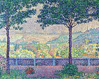 tablou paul signac - terrace of meudon, 1899