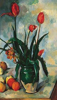 tablou paul cezanne - tulips in a vase (2), 1890