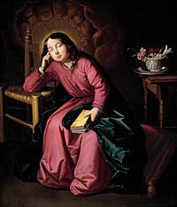 tablou francisco de zurbaran - asleep young virgin mary (1630)