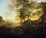 tablou jan dirksz both - italian landscape (1645)